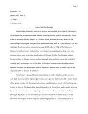 writing study resources 4 pages writ 1301 using a plausibility analysis for a movie essay rewrite