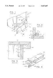 Cabinet Kick Plate Patent Us5647687 Toe Kick End Cap For Cabinets Google Patents