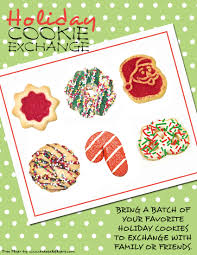 bake flyers flyer designs cookie exchange invitation
