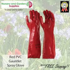 45cm red pvc garden spray gauntlet
