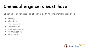 chemical engineering assignment help chemical engineers