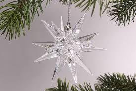 3d Stern 75cm Kristallklar Mit Schlaufe Dekoration Aus Acryl