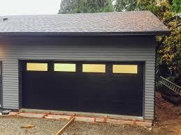 black garage doorGarage Doors Vancouver  New  Custom Projects  778 6550466