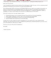 Cover Letter For Store Manager Retail Job Cover Letter Cover Letter