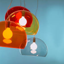 soap bubble as a pendant lamp small fl y pendant lamp by kartell in transpa