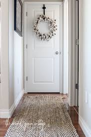 hallway finally. I Finally Upgraded The Rug In Our Hallway\u2026 Little Brown That We Had There Past Few Years Was Wore Out. It A Snags, Rubber Backing Hallway E