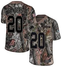 Camo Barry Sanders Youth Limited Detroit Lions Rush Realtree