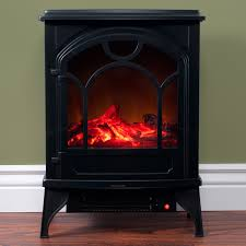 electric fireplace indoor freestanding space heater with faux log and flame effect by northwest com