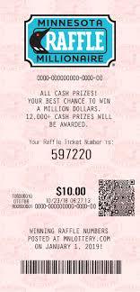 Minnesota Millionaire Raffle 2019 Minnesota Lottery