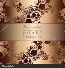 Baroque Wedding Invitations Vintage Baroque Wedding Invitation Template With Butterfly