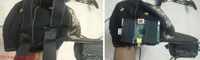 arvind sanjeev s diy smart cap features a head mounted display strapped to a stylish hat i would like to just carry my raspberry pi on my hat no