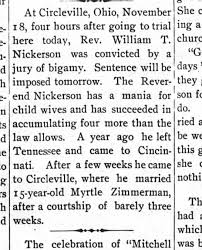 Rev. Wm T. Nickerson bigany 15 yr old Myrtle Zimmerman - Newspapers.com