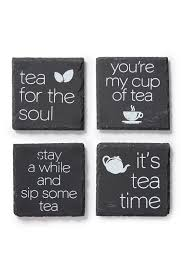 Core Home Tea Quotes Etched Slate Coaster Set Of 4 Nordstrom Rack