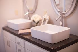 Cement Over Tile Countertops Diy Concrete Countertops In A Beautiful Master Bathroom Renovation