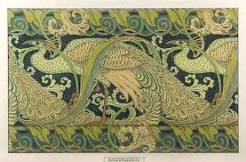 49 art nouveau wallpaper border on