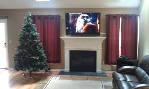 new ord ct mount tv above fireplace home theater installation