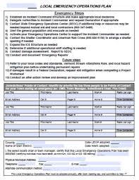 Operation Plan Outline Local Emergency Management Plan Lemp Or Leop Floodready