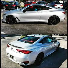 infiniti q60 blacked out. platinum q60 red sport on plush monaco interior in full effect color coated infiniti blacked out