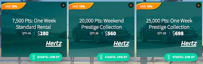 Hertz Points Redemption Chart Why It Could Make Sense To Buy Hertz Points After