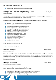 Care Worker Cover Letter Sample Child Resume Examples For Childcare