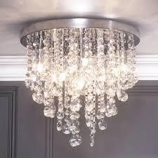 flush ceiling light glass montego semi flush ceiling light crystal effect chrome