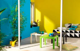 yellow and blue color scheme