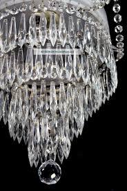 antique czech crystal chandelier vintage ceiling light red etched wedding c