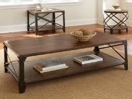 industrial metal and wood furniture. Coffee Table Enchanting Dark Brown Rectangle Unique Steel And Wood Metal Tables Industrial Furniture