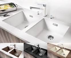 Bianco Kitchen Sinks Blanco Sink Taps Cinder Undermount  White Discount Blanco Cinder Sink T35