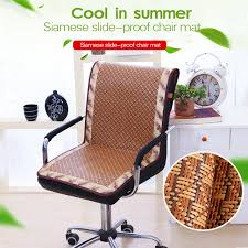 cooling office chair. Rattan Slide-proof Chair Cushion Summer Cooling Cover For Office Plaid Dustproof I