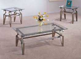 coffee table awesome silver rectangle modern metal and glass glass coffee and end table sets