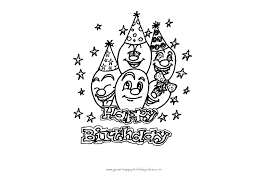 Fun And Free Birthday Balloons Coloring Pages
