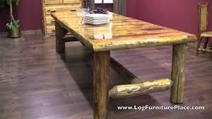Log Dining Room Tables Cedar Lake Lodge Log Dining Table Youtube