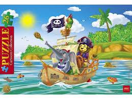<b>Пазл</b>-<b>рамка Hatber</b>, <b>Забавные</b> пираты, 26 элементов, 20*30 см ...