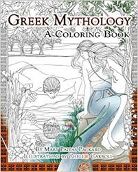 greek mythology a coloring book mary pappas packard 9781435163768 amazon books
