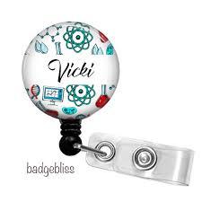 Personalised Science Teacher Id Badge Holder Badge Bliss Madeit