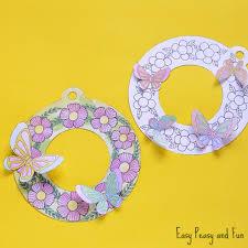 Printable Flower Wreaths Simple Spring Craft Idea Easy Peasy And Fun