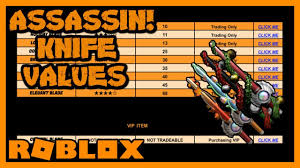 Roblox Assassin Value List 2019 Website Videos Of How To