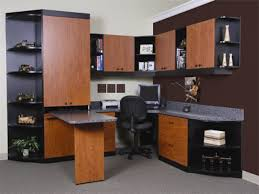 home office office furniture best desks ideas in home office room design with modern style and color combination of brown and black on the gray floor best desks for home office