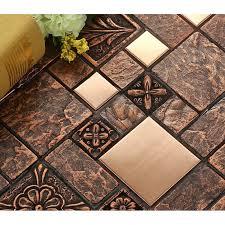 brushed stainless steel tile sheets kitchen backsplash brass glass mosaic resin patterns p67 jpg
