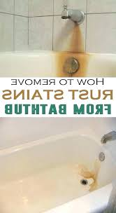 clean rust from bathtub how to remove rust stains from porcelain how to remove rust stains