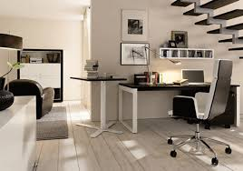 modern home office chair. ergonomic modern home office design with contemporary desk and leather chair