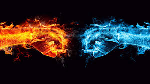 Fire And Ice Conflict 1366x768 Wallpaper 7415 | Opposites attract ...