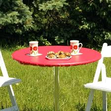 green fitted outdoor tablecloth elastic inch round