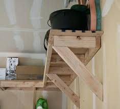 diy wood shelves with brackets overhead garage storage 3 awesome home ideas shelving brackets diy wood