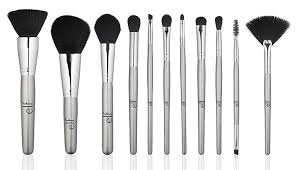 best makeup brush sets e l f cosmetics silver 11 piece brush collection
