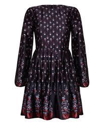 Iska London Size Chart Iska London Navy Red Floral Fit Flare Dress Zulily