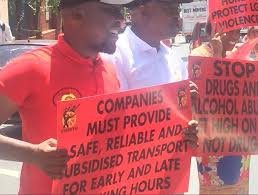 And Cosatu Must On