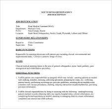 Clinical Assistant Jobs 9 Medical Assistant Job Description Templates Free Sample
