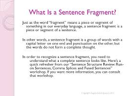 Sentence Structure Review Sentence Fragments Ppt Video Online